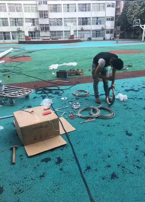 广西柳州市球场施工案例